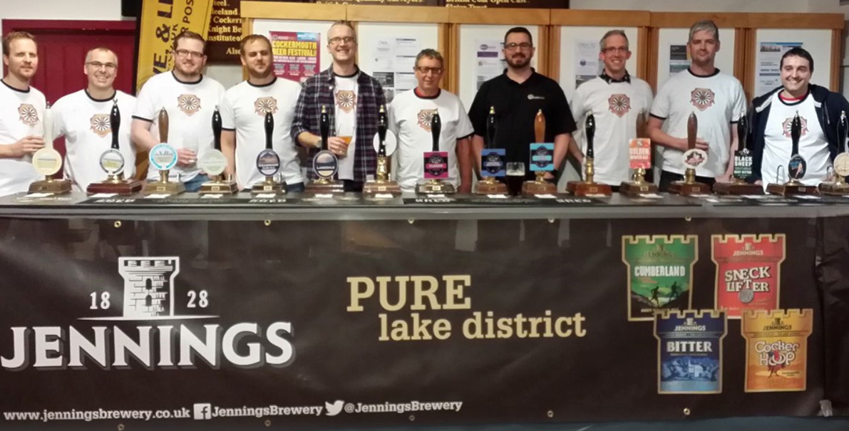 Jennings raises a glass to Cockermouth Beer Festival 2018!