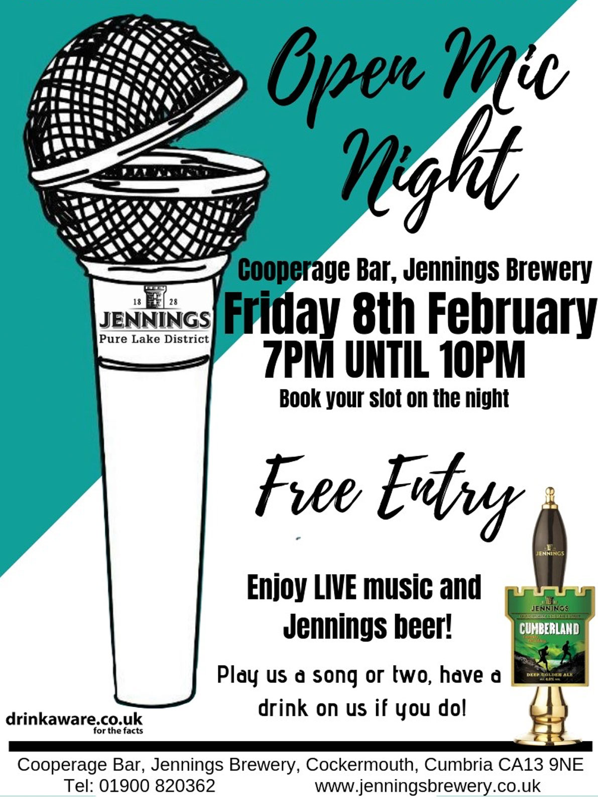 Jennings presents its first Open Mic night on Friday 8th February