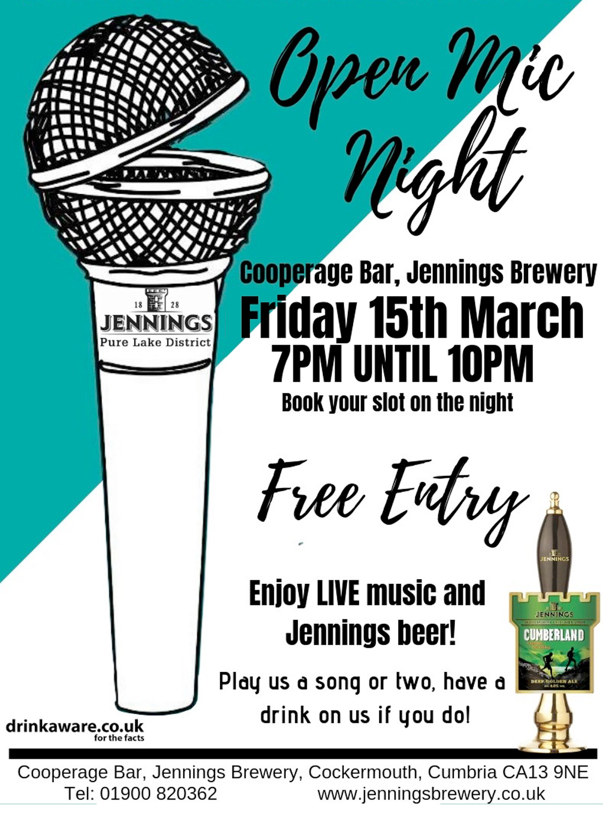 Jennings presents its first Open Mic night on Friday 15th March