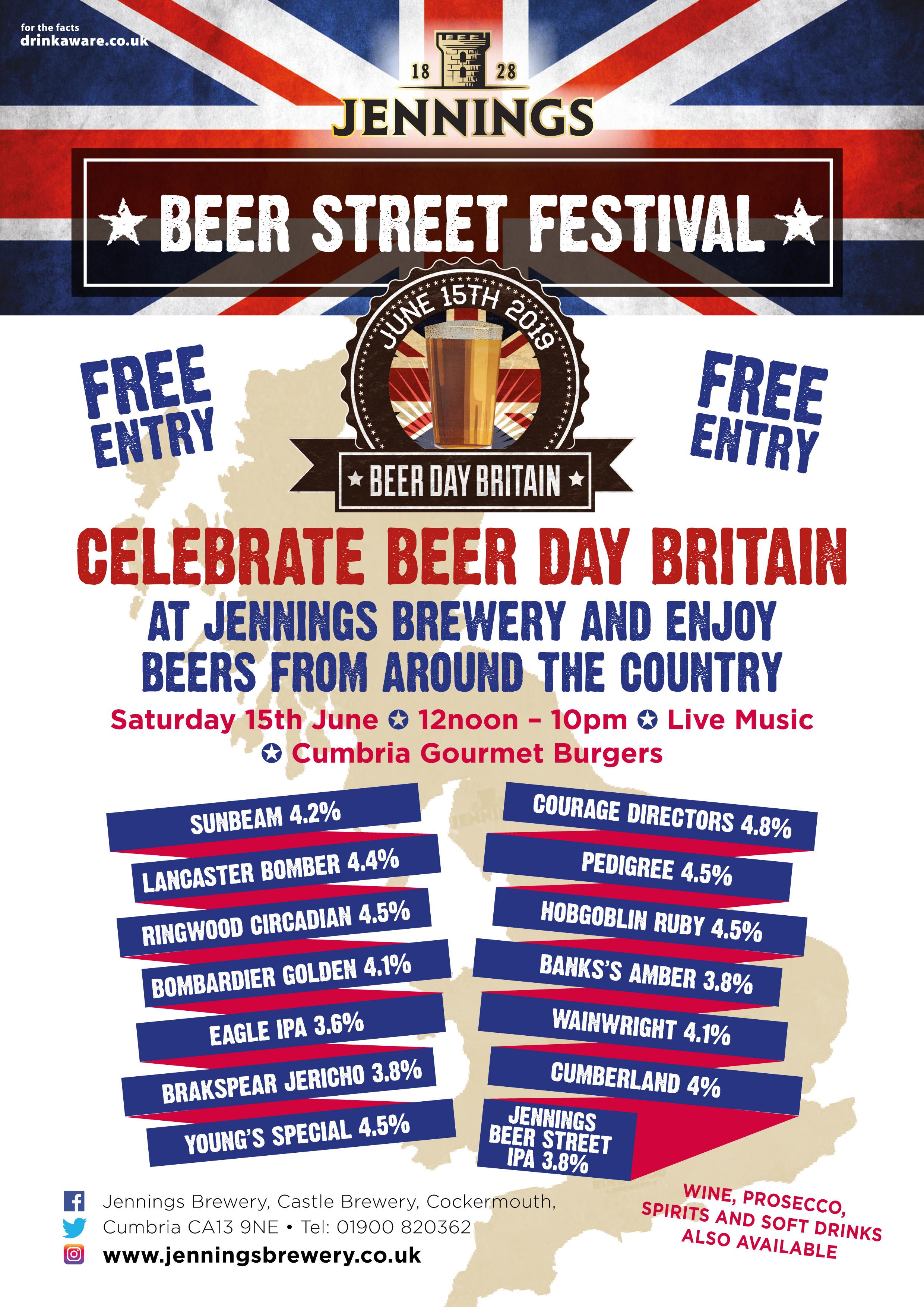 Jennings Beer Street Festival – 15th June