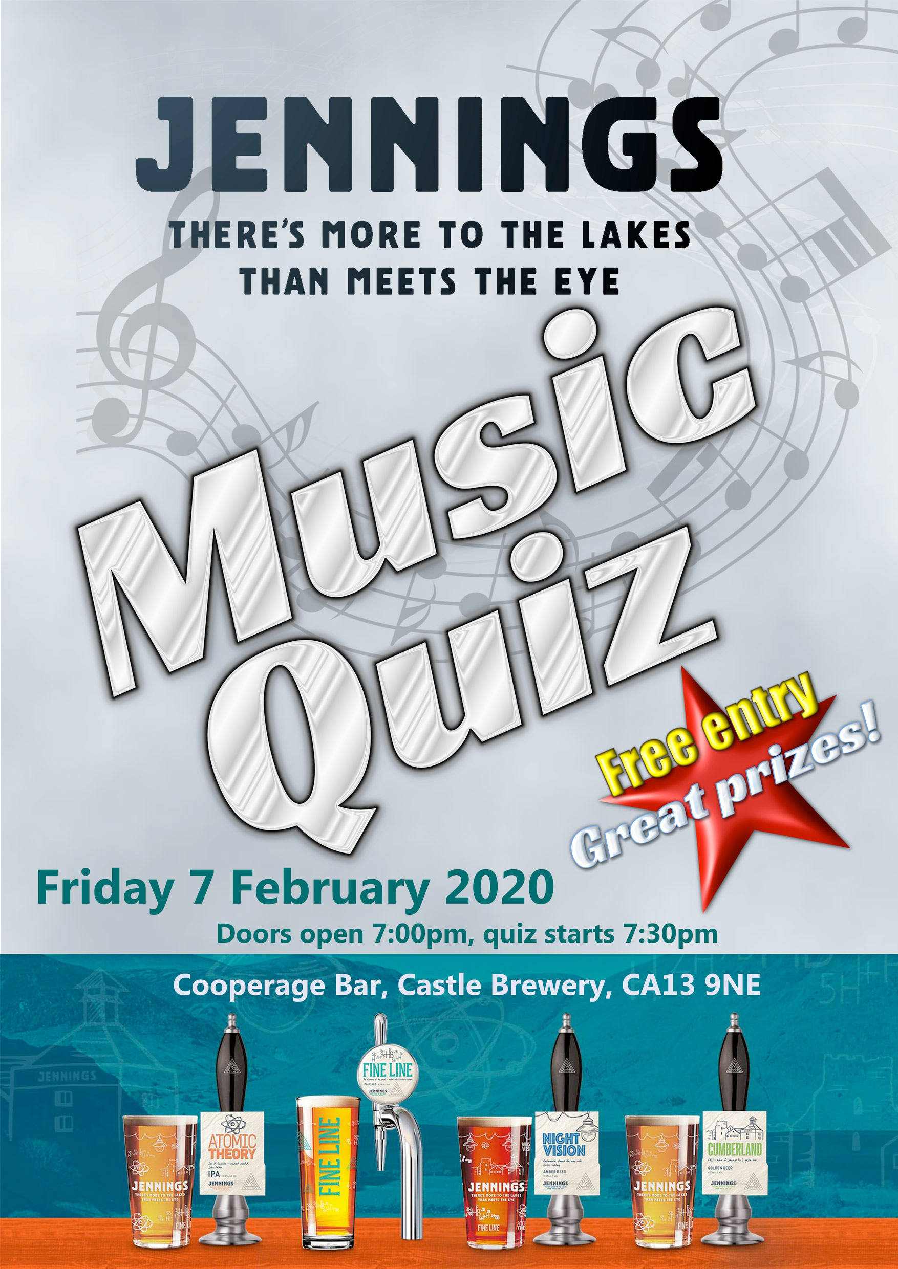 Music Quiz night on Friday 7th February